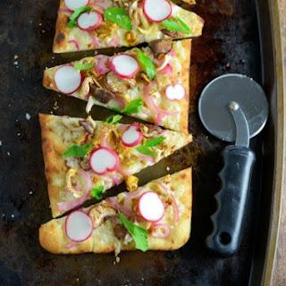 Horseradish and Mushroom Flatbread