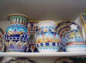 Photo: Local ceramics - every town had lots of ceramic shops