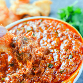 Keto Cheesy Chorizo Dip.