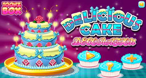 ケーキの装飾のゲーム