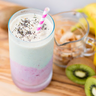 Coconut Strawberry Kiwi Smoothie.