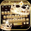 Gold diamond crown Keyboard Theme icon