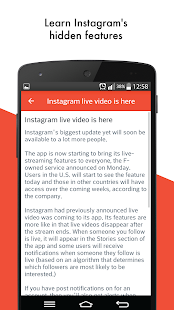 Guidance for Instagram Live screenshot