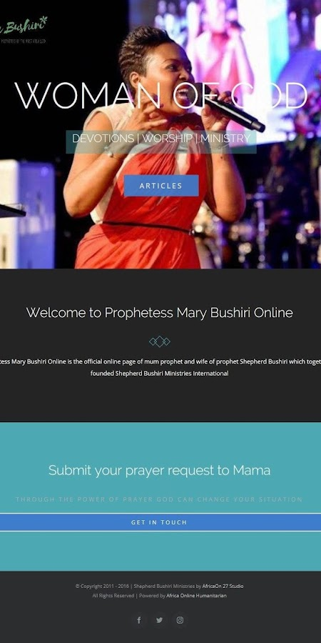 Prophetess Mary Bushiri- screenshot