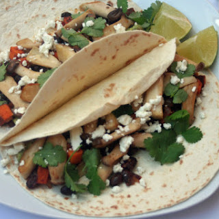 Sweet Potato, Black Bean and Mushroom Taco (Vegetarian/Vegan)