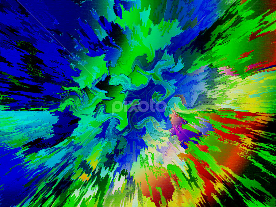 light flash by Edward Gold - Digital Art Abstract ( abstract art, blue, reds, greens, colorful, digital art, yellows,  )