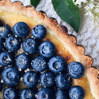 Whipped Ricotta & Blueberry Tart.