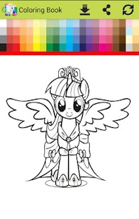 Coloring little pony  princess go - náhled