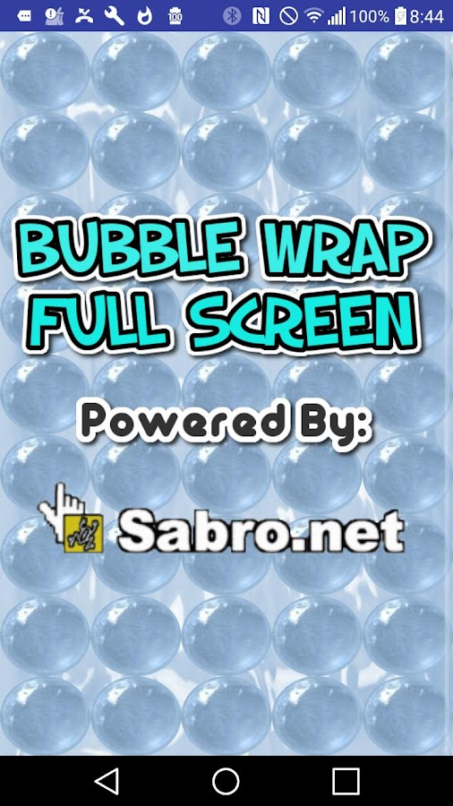 Bubble Wrap Fullscreen Game- screenshot
