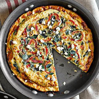 Spinach, Red Pepper and Feta Frittata