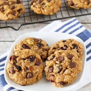 Gluten Free Vegan Trail Mix Cookies.
