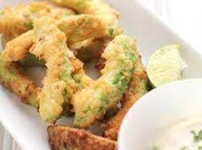 Fried Avocado Strips With Cilantro Ranch