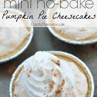 Mini No Bake Pumpkin Pie Cheesecake