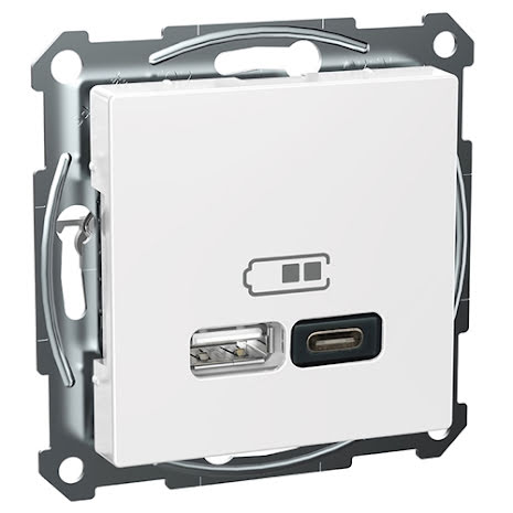 Schneider Exxact USB Typ A+C Laddstation