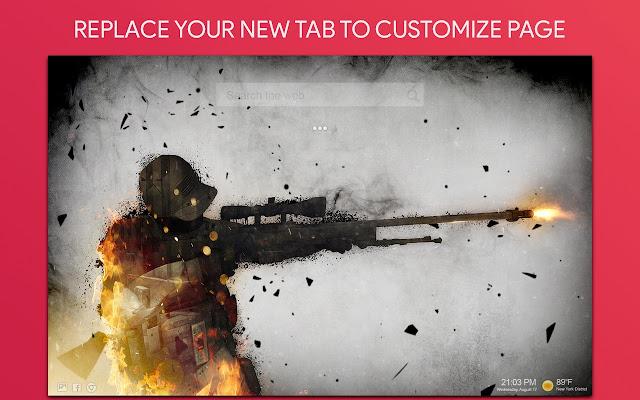 Counter Strike Wallpaper HD Custom New Tab