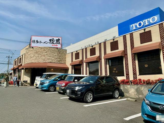 店頭の駐車場