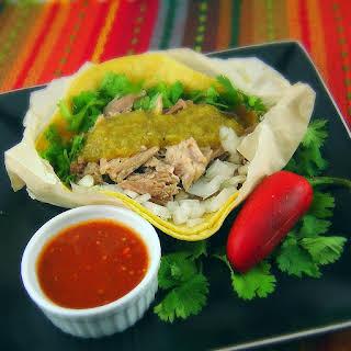 Tacos de Carnitas (Shredded Pork Soft Tacos).