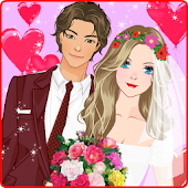 Groom & Bride Wedding dress up