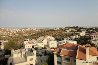 Photo: Vue sur la côte depuis les sommets de Ramallah