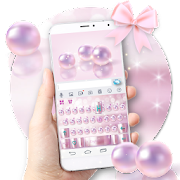 Pink Luxury Pearl Keyboard Theme