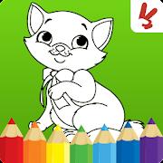 بچه ها رنگ آمیزی بازی: حیوانات