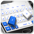 Blue White Keyboard icon