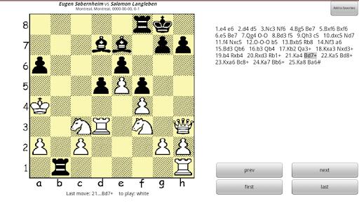 Chesser - a free chess viewer 1.7 screenshots 2