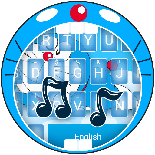 Blue Cat in Sky Theme&Emoji Keyboard