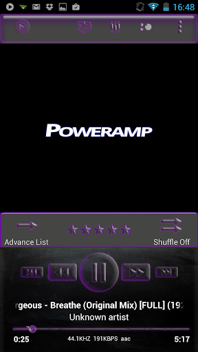 Poweramp Skin Purple Glass