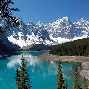 Moraine Lake, Banff National Park, Canada by Anastasiya Manuilov - Landscapes Travel ( mountains, moraine lake, banff )