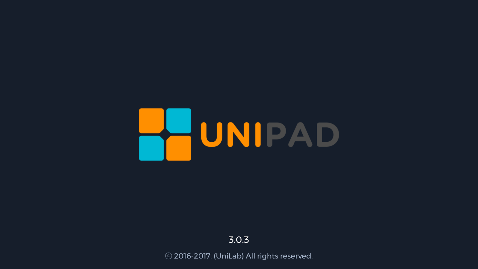 UniPad - launchpad- screenshot