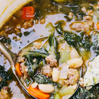 Italian Sausage Soup with Kale and Beans Recipe