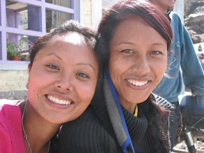 Photo: Tensing and her sister ..., Muktinath