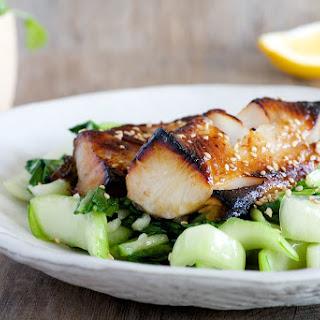 Miso Glazed Black Cod with Sesame Bok Choy