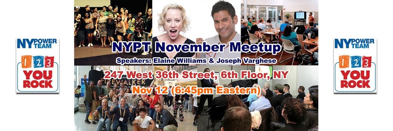 NYPT November Meetup - Get Captivated - Maximum Engagement Toward Your Dreams!
