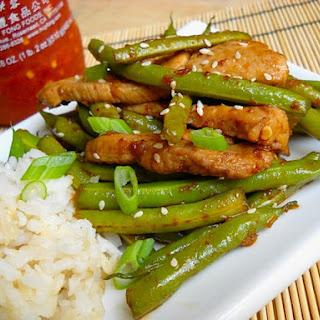 Szechuan Pork & Green Beans.