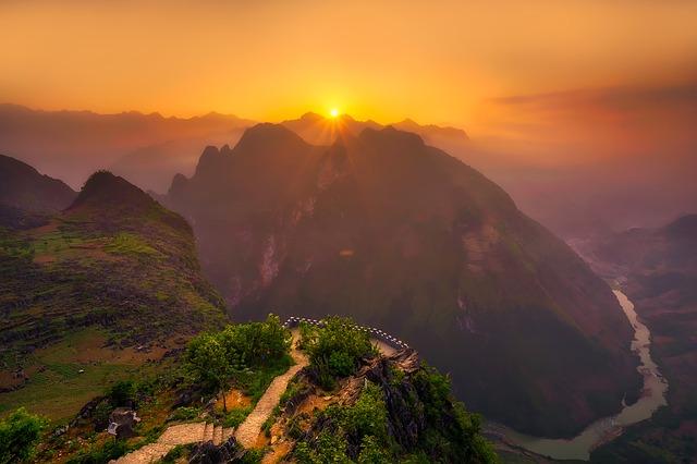 Glorious sunset in Vietnam