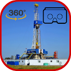 Oil Rig Drilling 3D icon