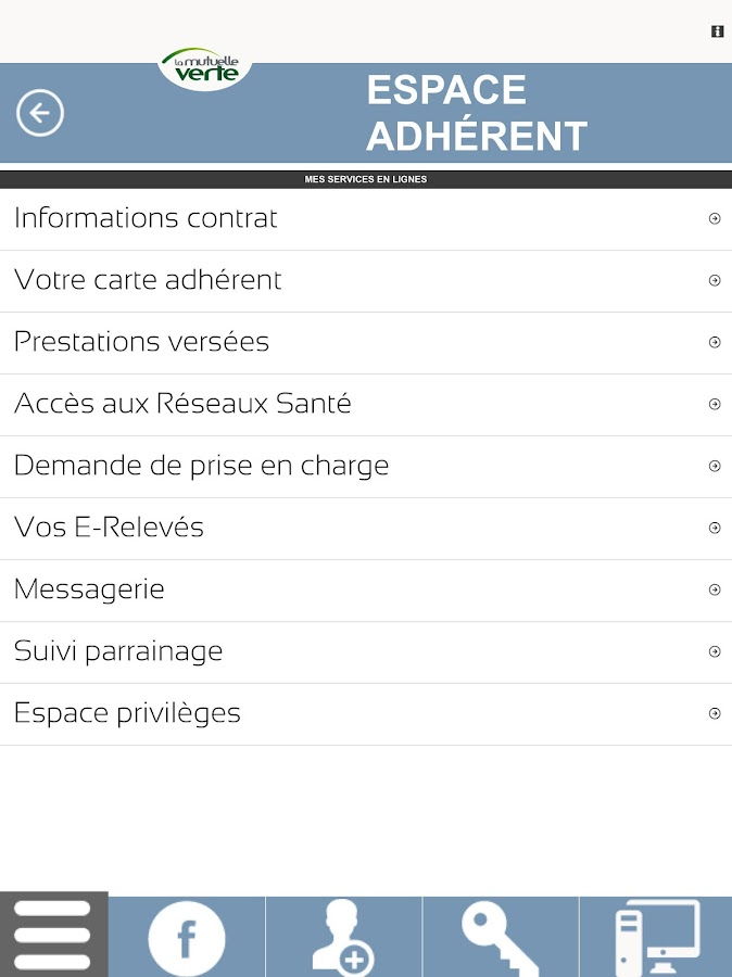 Mutuelle Verte- screenshot