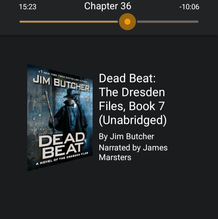 Screenshot of Audible Dresden Files Dead Beat