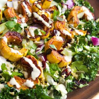 Delicata Squash, Quinoa and Kale Salad.