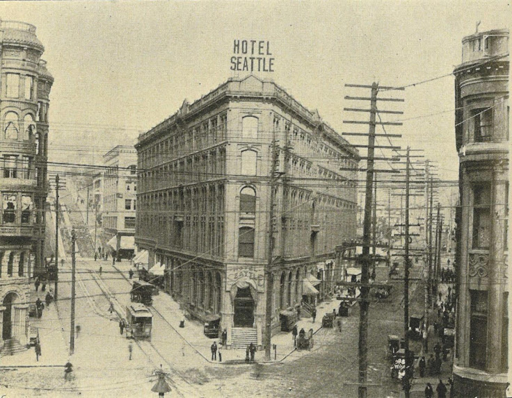 Hotel Seattle photographed in 1900.  Photo: Seattle Times.