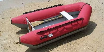 Photo: Another type of dinghy, red chaps