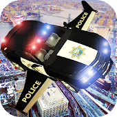 Police Flying Simulator Car - Flying Car 3D Sim