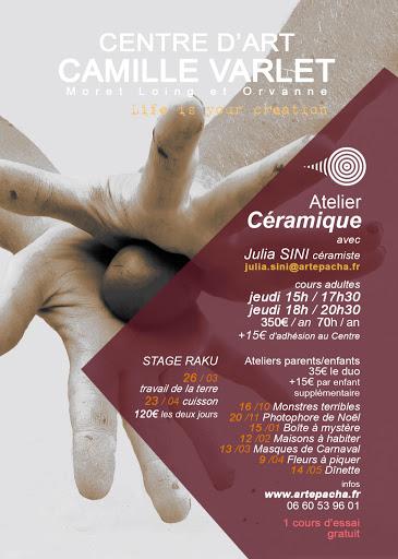COURS ceramique CENTRE D'ART CAMILLE VARLE