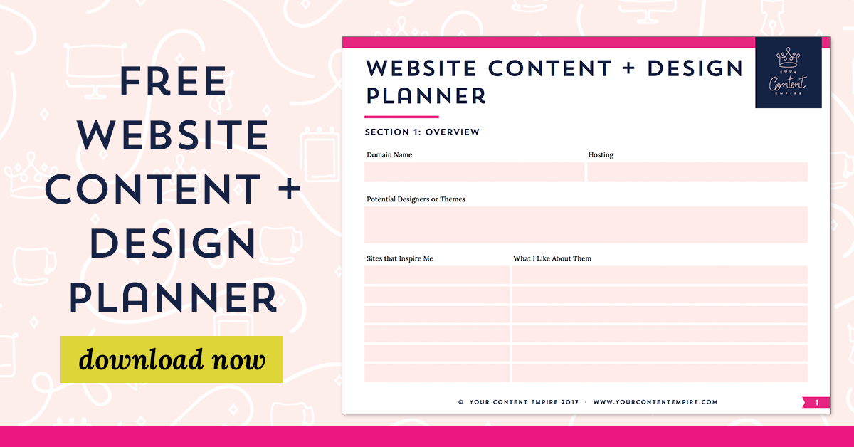 how to plan for your web project free workbook your content empire