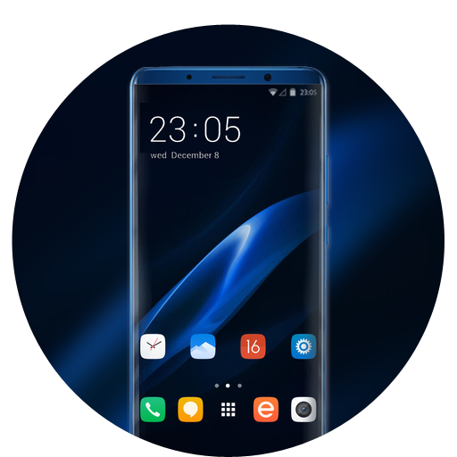 Theme for Oppo Realme 2 blue real wallpaper icon