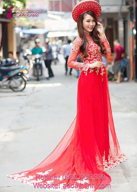 áo dài cưới kiểu mới