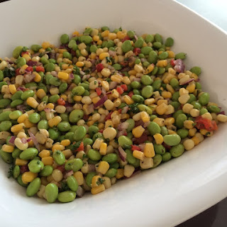 Edamame Corn and Roast Red Pepper Salad