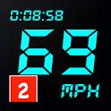 GPS Speedometer, Odometer, Pedometer Mileage track icon